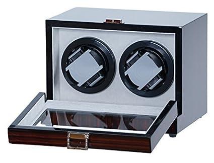 Amazon.com: Doble para 2 relojes Madera de ébano W/Digital ...