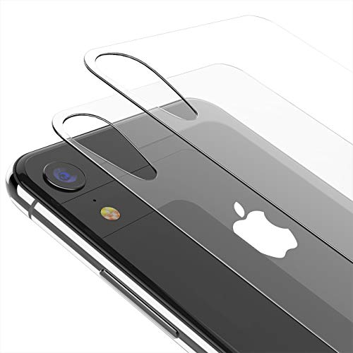 Kolpop iPhone XR Back Glass Protector (2 Pack), Clear Back Screen Protector Film [Anti-Scratch] [Anti-Fingerprint] [Case Friendly] Rear Tempered Glass Compatible iPhone XR 2018 (6.1 inch)