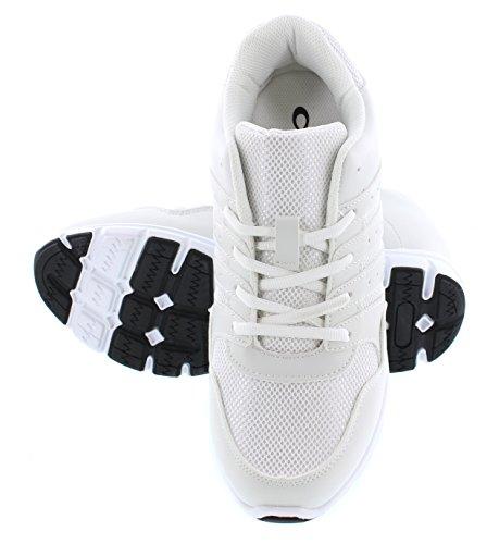 Calto - G8818 - 3,2 Pollici Più Alto - Scarpe Da Ascensore Con Altezza Crescente (sneakers Stringate Nere)