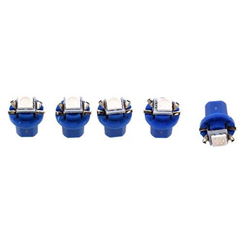TOOGOO(R)5X T5 B8.5D 5050 SMD Coche LED Luz indicadora Calibre Cuentamillas Cuadro de instrumentos lateral Lampara Bombilla (Azul): Amazon.es: Coche y moto