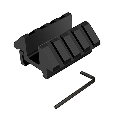 20mm 45 Degree Offset Dual Side Scope Mount 20mm Picatinny Weaver Rail by Young go