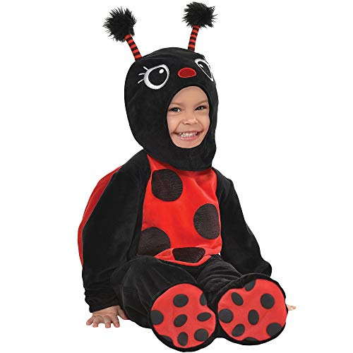 On The Spot Halloween Costumes (Party City Ladybug Crawler Halloween Costume for Babies, 12-24 Months, Includes)