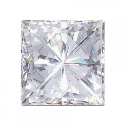 Moissanite Square Brilliant 7.5 mm 2.50 carats 69 facets FREE EXPRESS SHIPPING UPGRADE by Charles & Colvard