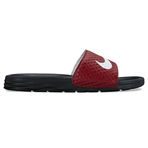 NIKE Men's Benassi Solarsoft Slide Athletic Sandal, Team Red/White/Black, 7 D(M) US by NIKE