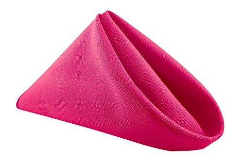20'' x 20'' Polyester Napkin - 12 Pcs - Fuschia