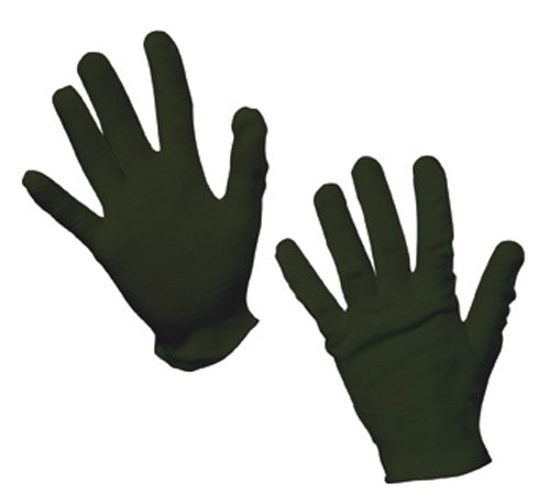 [Child's Black Cotton Gloves For Costumes] (Black Girls Gloves)