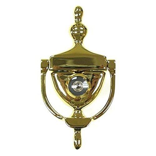 (Deltana DKV630U3 Door Knocker with Viewer 1-3/4-Inch Max Door Thickness Color: Bright Brass Model: DKV630U3)