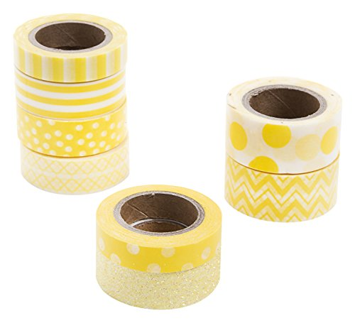 Darice Yellow Washi Tape Assortment ()