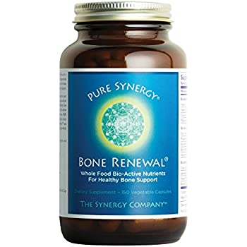 Pure Synergy Bone Renewal (150 Capsules) Bone Vitamin w/Plant-Based Calcium, Magnesium, D3, K2, Trace Minerals