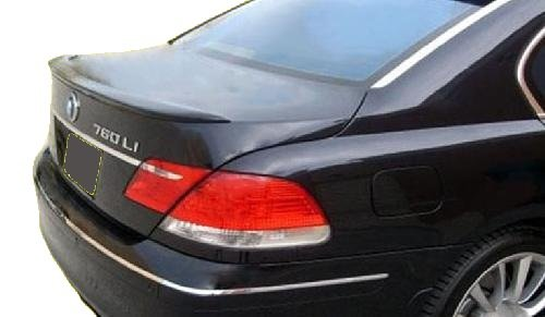 06 Flush Mount Wing - 06-08 BMW 7 Series Flush Mount Factory Style Spoiler - Painted or Primed : 668 Jet Black