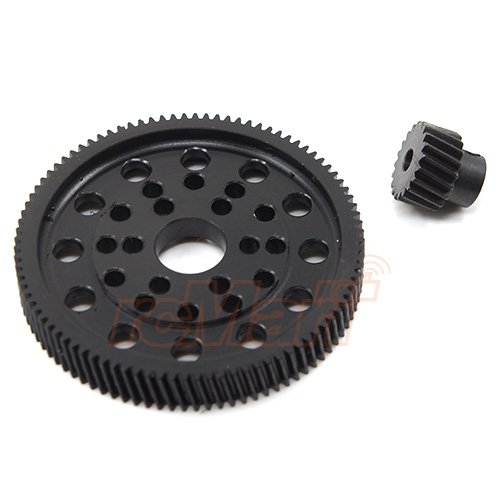 Xtra Speed Helical Delrin Spur Gear w/Steel Pinion For AXIAL SCX10 WRAITH -