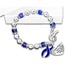 Colon Cancer Awareness Ribbon Charm Bracelet - Where There Is Love (Retail)