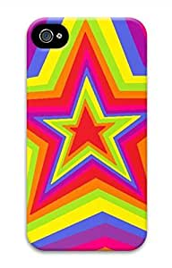 Colorful Star Hard Case Cover Skin for iPhone 4 4S
