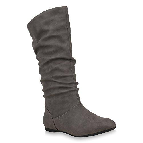 de para mujer Grau Sintético Stiefelparadies Carlet Material Botas x8XSxqz