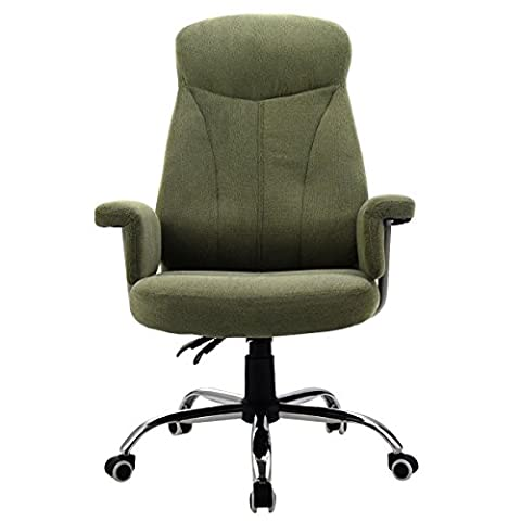 Reclining Office Chair High Back Padded Executive Computer Desk Task Recliner - Tufted Zebra Rug
