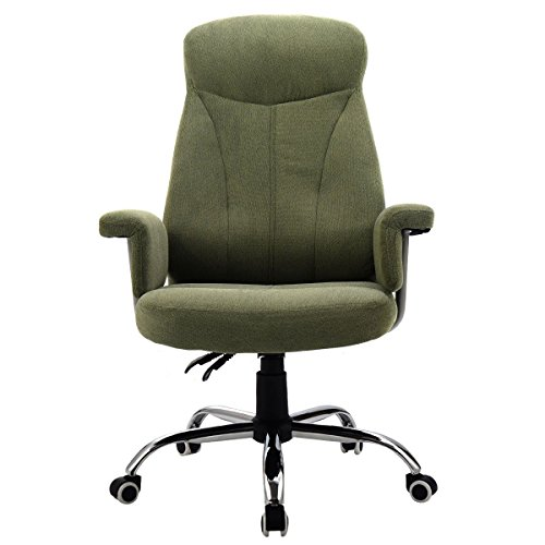 Reclining Office Chair High Back Padded Executive Computer Desk Task Recliner