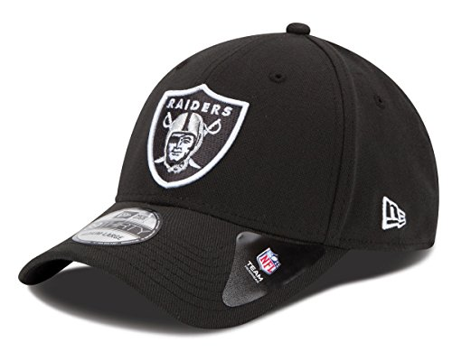 - NFL Oakland Raiders Team Classic 39THIRTY Stretch Fit Cap, Medium/Large, Black