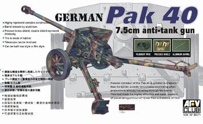 (Pak 40 7.5cm Anti-Tank Gun 1-35 AFV Club)