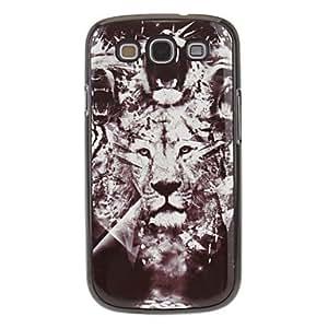 Conseguir León Pintura Patrón cubierta de la caja de aluminio duro de la contraportada para Samsung Galaxy S3 I9300