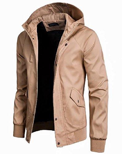Plus Men's Fit AS5 Size Britain Premium Windproof Zipper Hood Jacket Howme Regular wtdqzBB