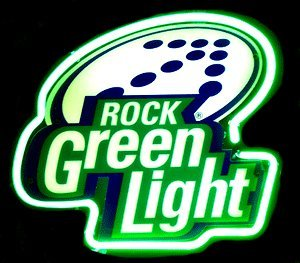 Latrobe Brewing Company Rolling Rock Green Light Neon Sign Inbev Anheuser Busch