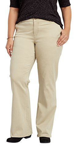 maurices Women's Plus Size Bootcut Chino Pants 18 Khaki