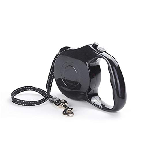 VBHFKD Durable Dog Leash Automatic Retractable Nylon Dog Lead Extending Puppy Walking Leads for Small Medium Dogs 3M / 5M Pet Products Black 5 M