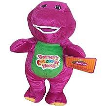 "AutoKing® Best Pal Barney Dinosaur Hug Singing I Love You Musical Colorful World Plush Doll 10"""