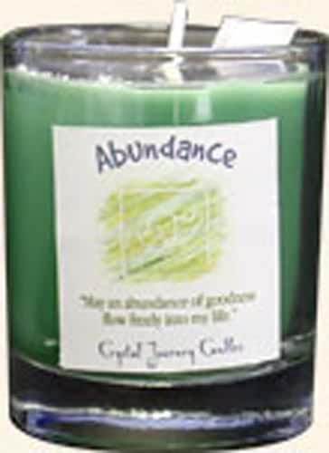 Crystal Journey Herbal Magic Glass Filled Votive Candle - Abundance