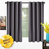 TEKAMON 99% Blackout Curtains 2 Panels Thermal Insulated Solid Grommet...
