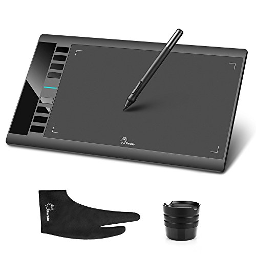 Parblo A610 10' x 6' Graphic Drawing Tablet with 8 Express Keys and...