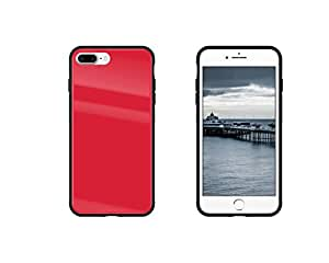 iPhone 8 Plus Case iPhone 7 Plus Case, Tempered Glass Back, Full Protective Case for iPhone 7/8, Anti-scratch (Red)