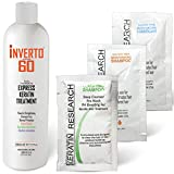 INVERTO 60 Advanced Gel Complex Brazilian Keratin Hair Blowout Treatment Formaldehyde Free Straightening Smoothing and...