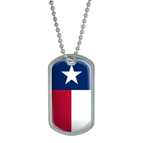 (Graphics and More Texas State Flag - Military Dog Tag Luggage Keychain)