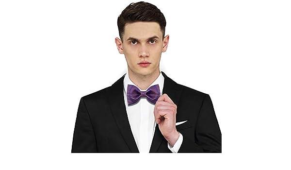 YYB-Tie Corbata Moda Corbata de Lazo de Boda a Rayas moradas con ...