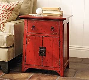 Amazon.com: Pottery Barn Emmett Cabinet Side Table ...