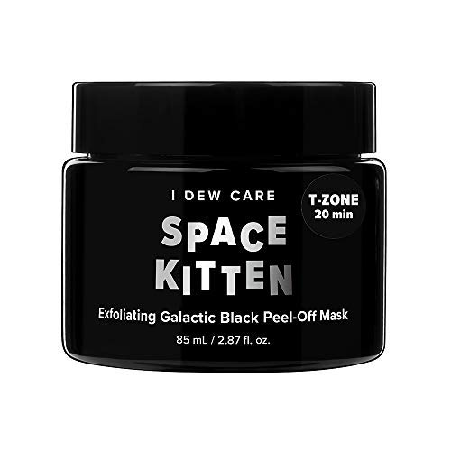 I DEW CARE Magic Chrome Mask Space Kitten 2.87 Ounces, Exfoliating Galactic Peel Off Mask, Peel-Off Mask Shimmers, Royal Blue Glitter, Brightens And Exfoliates Skin, Controls Sebum, Cleanses Pores