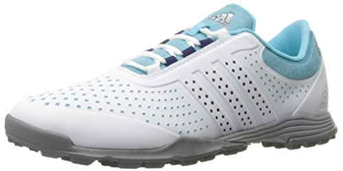 adidas Women's Adipure Sport Golf Shoe, Blue, 6.5 M US