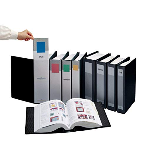 ProFolio by Itoya, SpringPost Binder - 5 Interchangeable Color-Coded Spines and 5 Tabbed Dividers , 3