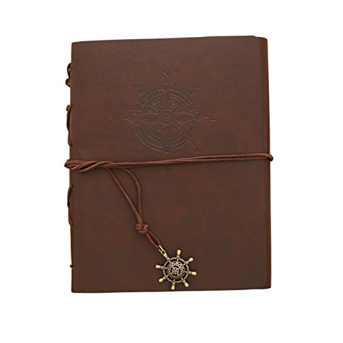 PINGGUO Self-adhesive Scrapbooking Photo Albums for Any Size Photo 8.1x5.9(inches) (dark brown)