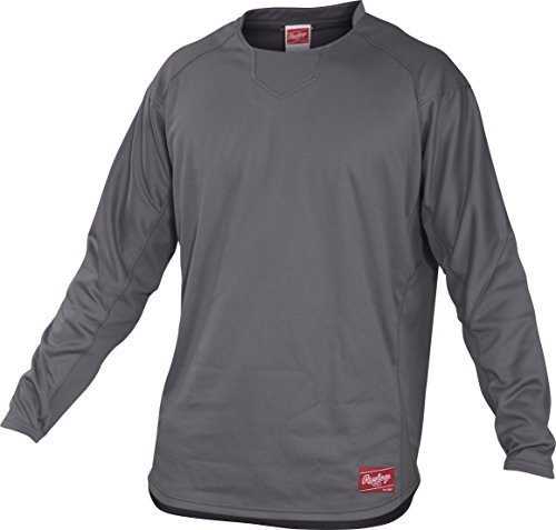 Rawlings Adult Dugout Fleece Pullover, X-Large, Graphite