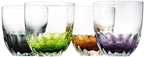 Artland Solar Flute 1 Get the party going with this fun colored bar top glassware Great for serving up almost any double cocktail, like the classic old fashioned, or for sipping some delicious spirits Cosmic colors green, purple, black, and orange which make it easy to remember who's glass is who's during dinner or a night of entertaining
