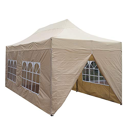 Snail 10'x20' Ez Pop-up Canopy Tent Portable Commercial Instant Party Tent with 4 Removable Walls and Roller Bag, - Party Portable Tents