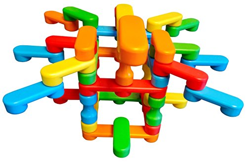 (Magz Bricks 45 Piece Magnetic Building and Stacking Set)