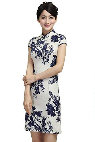 acvip-women-cheongsam-chinese-dress-cup-sleeve-flowers-pattern-8