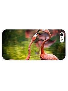3d Full Wrap Case for iPhone 5/5s Animal Flamingo Birds hjbrhga1544
