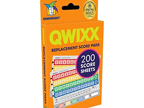 Gamewright Qwixx, Replacement Score Cards Action Game Multi-colored 1 Pack