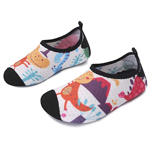 L-RUN Kids Swim Water Shoes Barefoot Aqua Socks Shoes for Beach Pool Surfing Yoga