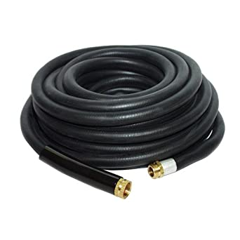 Apache 98108804 3/4u0026quot; X 50u0027 Industrial Rubber Water Hose Assembly With  Male