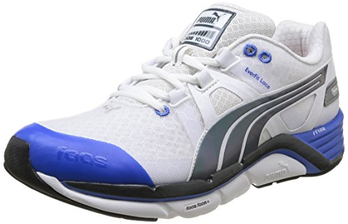 Puma Faas 1000 v1.5 - Zapatillas de running de material sintético para hombre blanco - Weiß (02 white-turbulence-strong blue)